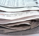 newspaper - stacked up poster