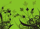 floral background poster