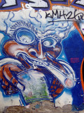 graffiti - blue joint poster