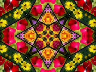 floral quilt design