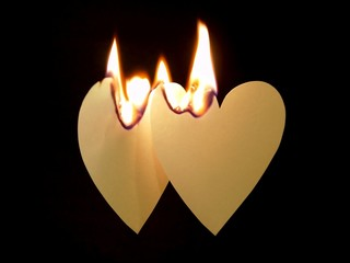 two hearts on fire