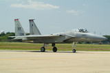 f15 eagle jet fighter on runway