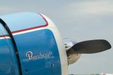 beechcraft engine and propeller poster