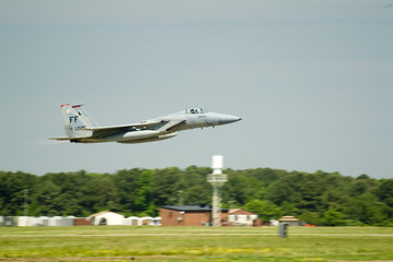 f-15 eagle taking off