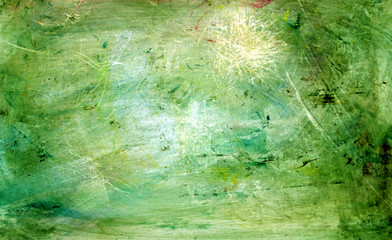 green grunge painting