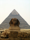 ancient egypt pyramid and sphinx poster