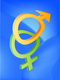 male and female symbols poster