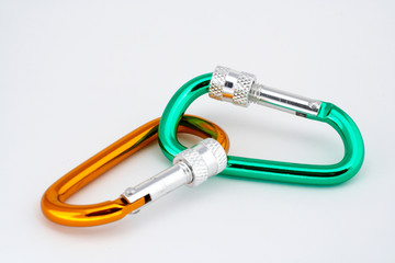 pair of locking carabiners