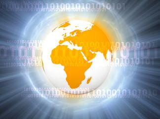 binary digital world