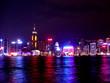 hong kong at night across the bay