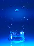 water splash poster