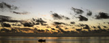 zanzibar beach panorama view at sunrise poster