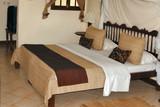 hotel bedroom, zanzibar, tanzania, africa poster