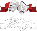 theatre comedy and tragedy masks poster