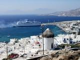 mykonos view, greece poster