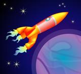 rocket space ship poster