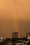 rainbow ower the city poster