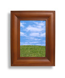 picture frame and nature poster