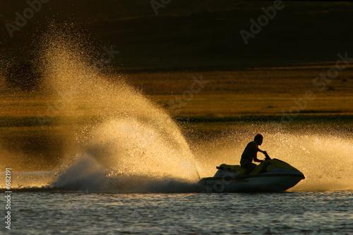 Spoed canvasdoek 2cm dik Water Motorsp. jet ski action