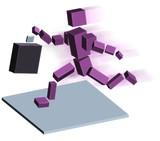 robot running poster