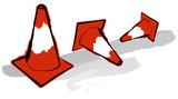 traffic cones poster