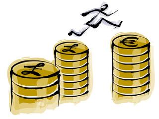 financial cartoon