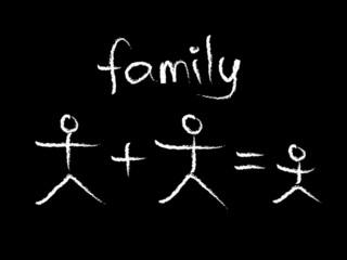 family chalkboard
