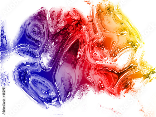 poster of abstract liquid