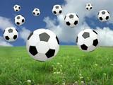soccer ball rain poster