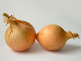 two white onions poster