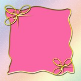 pink frame with gold bows poster