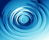 blue ripples on water poster