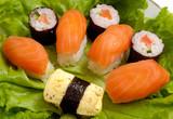 sushi dish close-up poster
