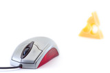 mouse and a piece of cheese poster