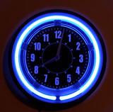 neon clock poster