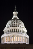 capitol dome at night (lights of the washington dc poster