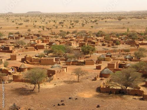 Leinwandbild Motiv village du sahel ( bani )