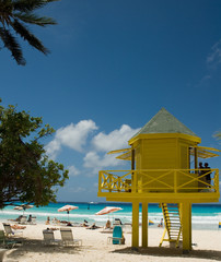 lifeguard station, barbados