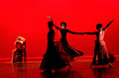 modern dance in red
