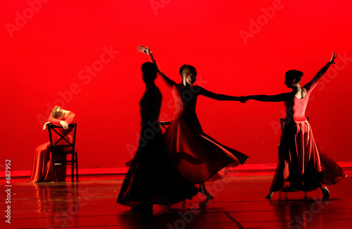 Foto op Canvas Dance School modern dance in red