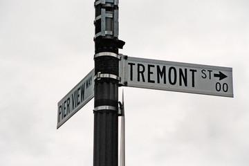 streetsign: tremont street & pier view