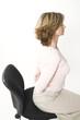 business woman back pain