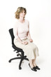 business woman relaxing on chair