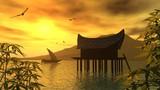 Fototapeta wyspa - pejzaż - Morze / Ocean
