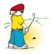 golfer cartoon