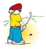golfer cartoon poster