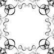 black & white scroll frame background