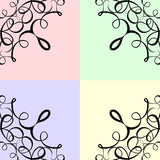 colorful scroll frame background poster
