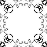 black & white scroll frame background poster