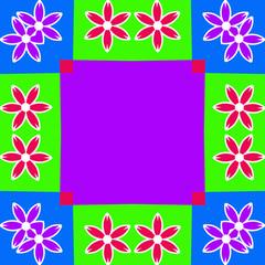 colorful flower frame background illustration